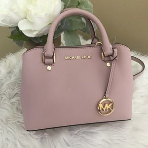 Michael Kors small savannah satchel crossbody bag